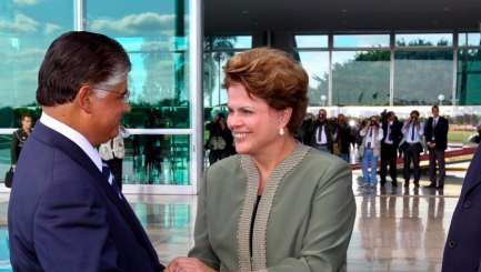 Clésio Andrade e Dilma Rousseff
